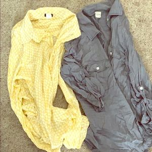 Tops - Two Jcrew Button Ups size xl